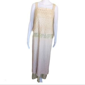 ONYX NITE Nordstrom Cocktail Maxi Gown Gold Sz 20